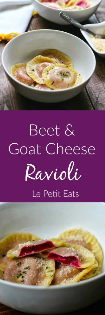 Beet Goat Cheese Ravioli