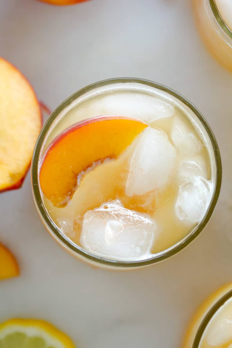 spiked iced peach green tea