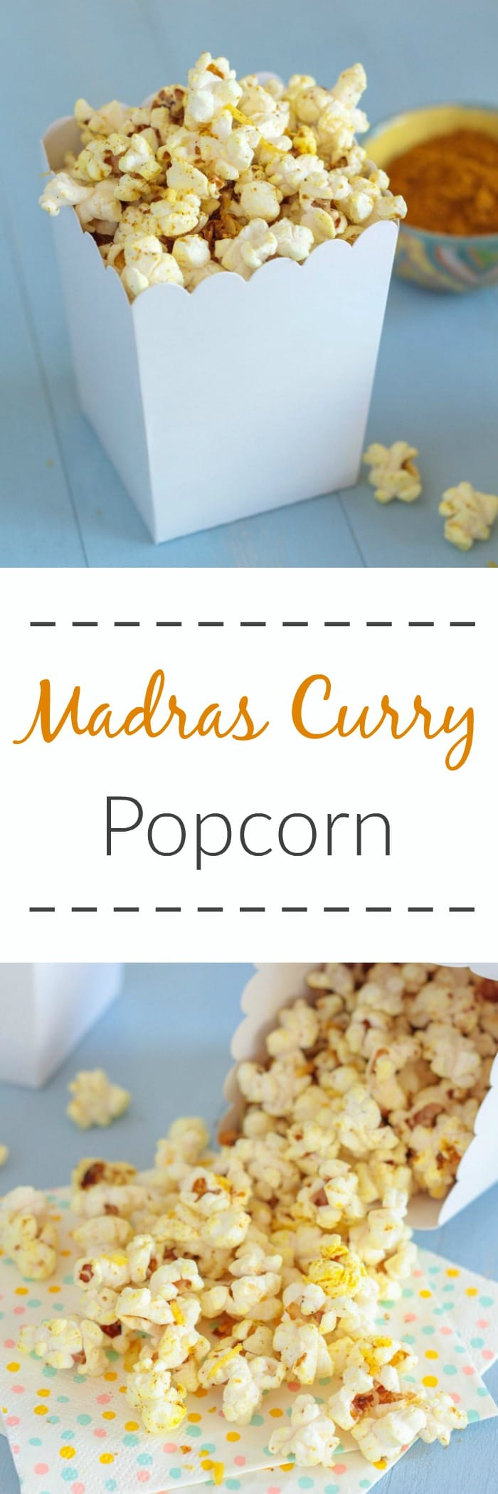 Madras Curry Popcorn - Le Petit Eats