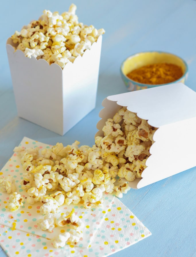 Madras Curry Popcorn - Le Petit Eats