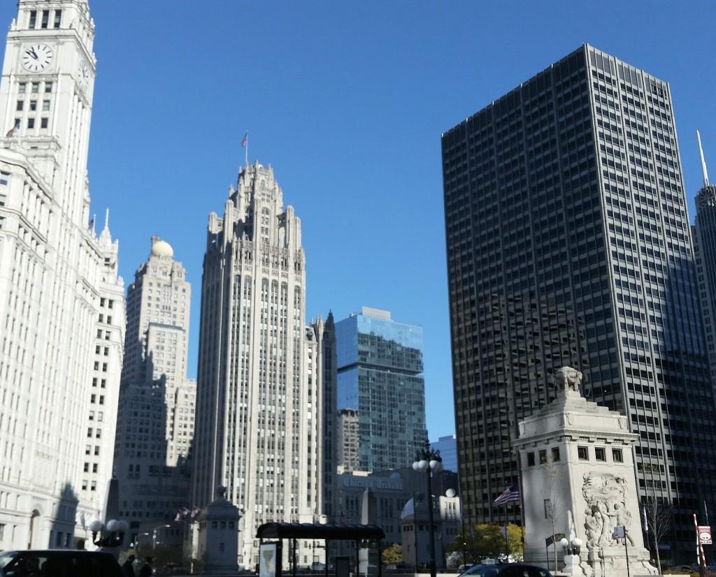 november photos downtown chicago