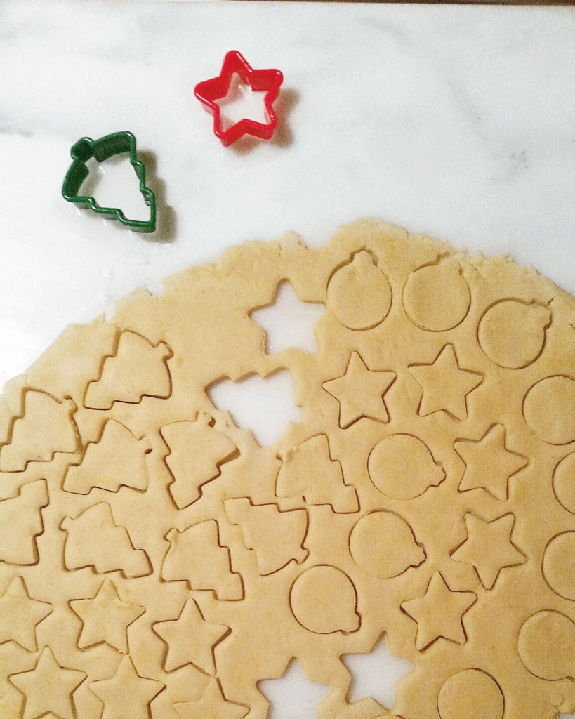 baking holiday cookies