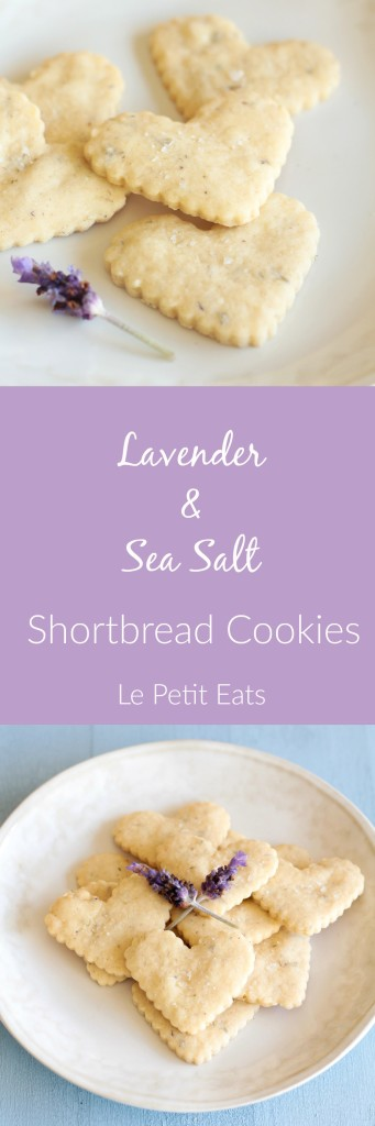 Lavender Sea Salt Shortbread Cookies