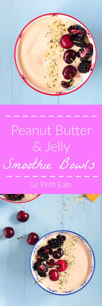 Peanut Butter & Jelly Smoothie Bowl