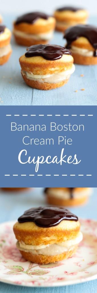 Banana Boston Cream Pie Cupcakes