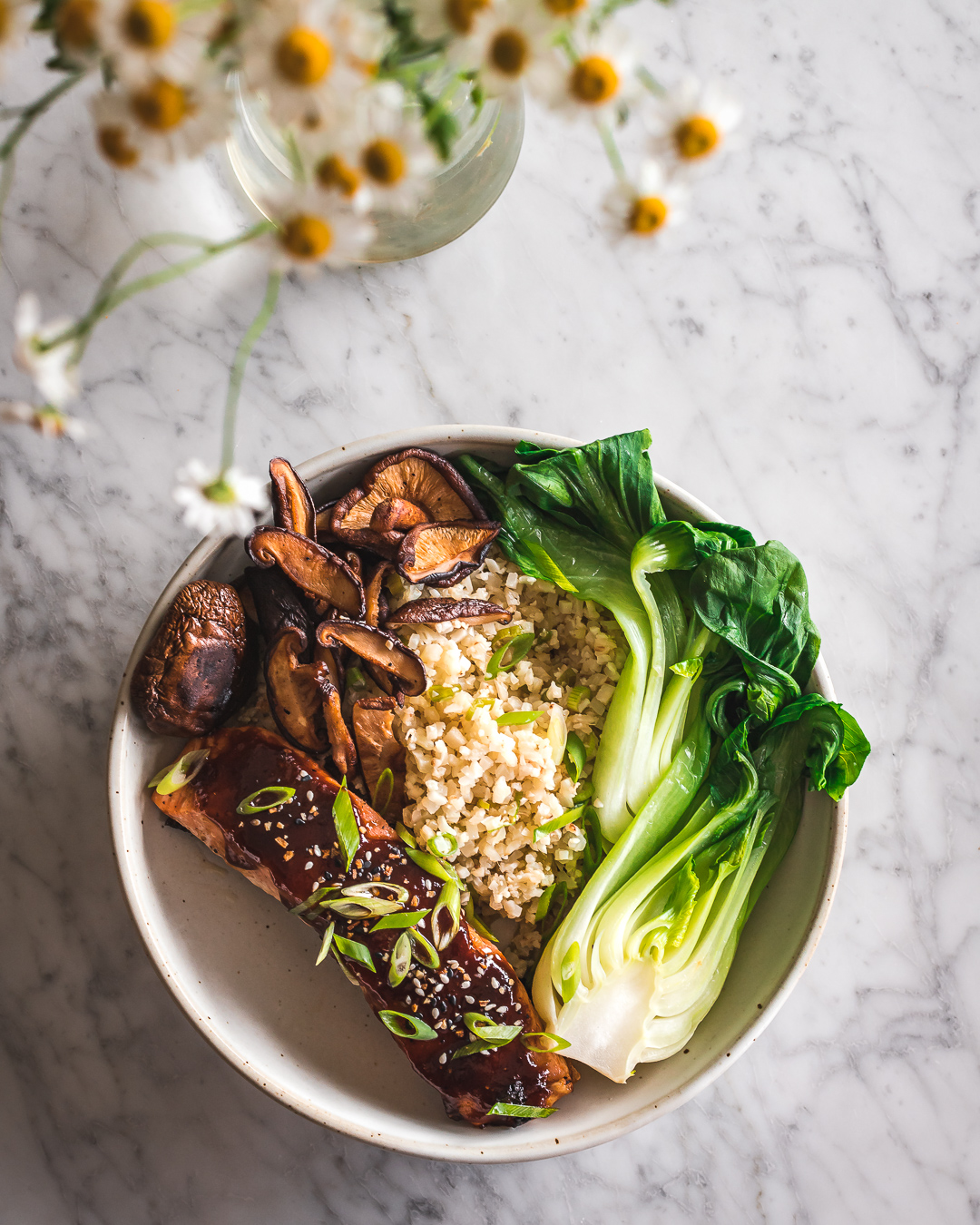 hoisin glazed salmon stir fry