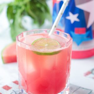 Watermelon Cucumber Basil Gimlet
