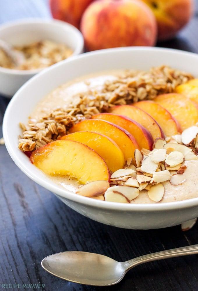 Peach Pie Smoothie Bowls