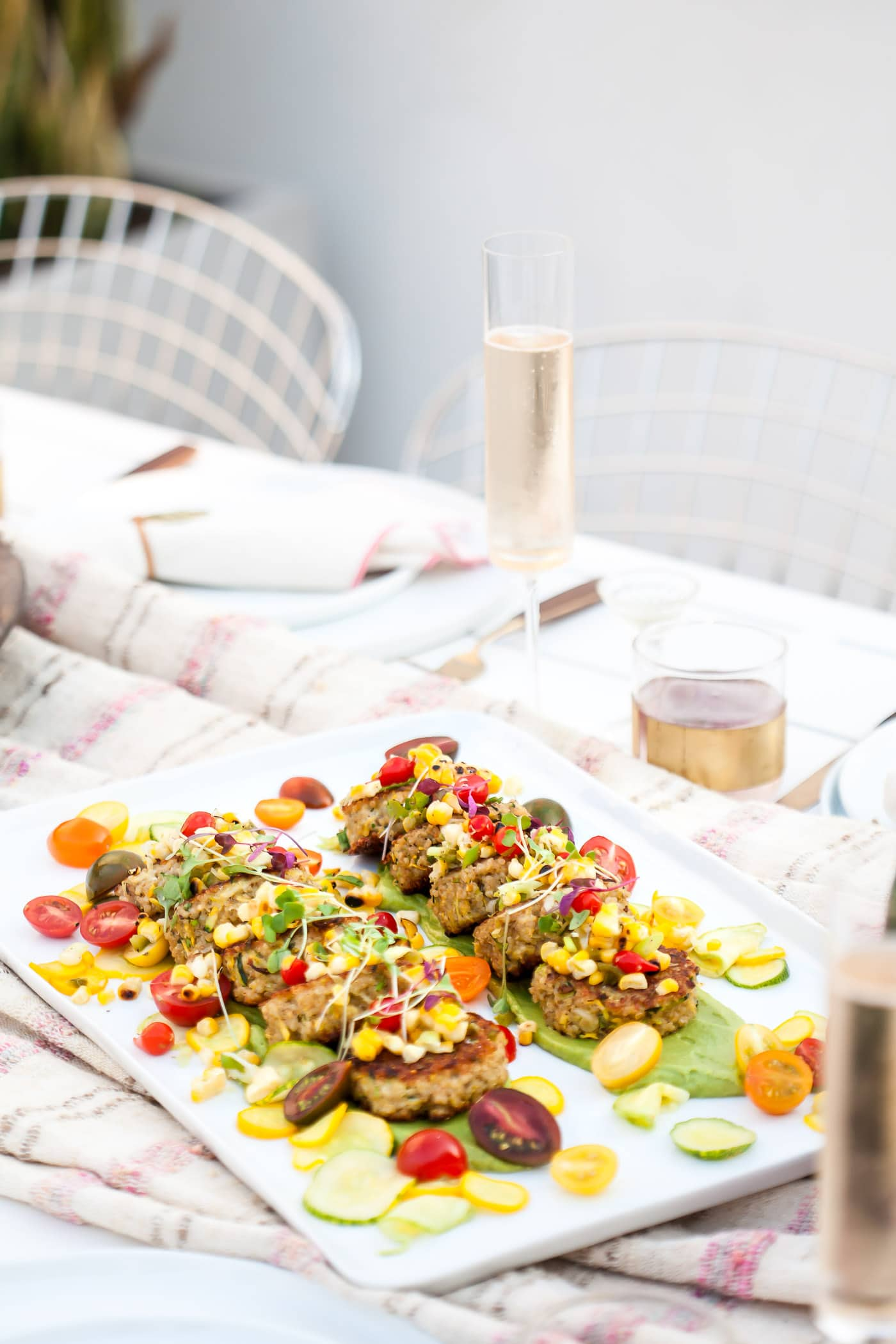 quinoa cakes on table