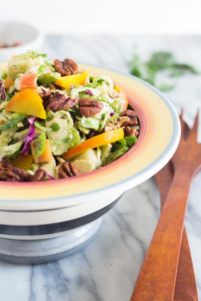 Autumn Brussels Sprout Slaw