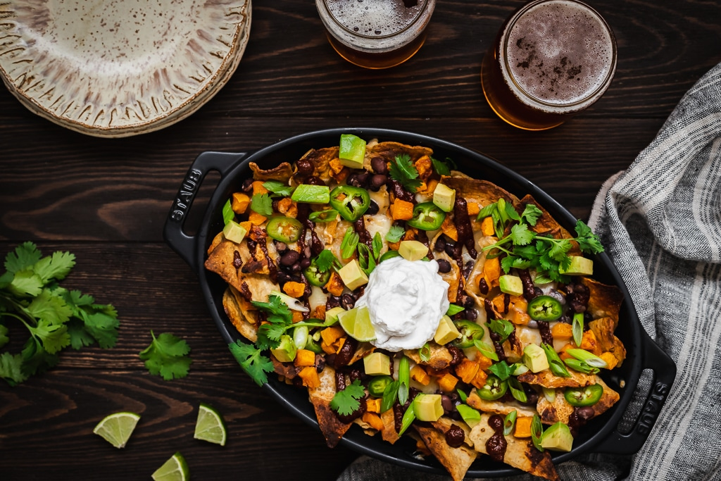 Mole Nachos with Roasted Butternut Squash