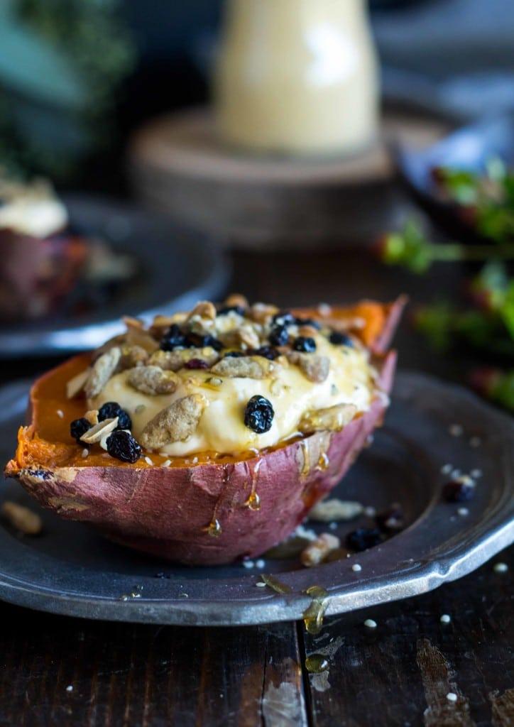 Baked Breakfast Sweet Potatoes
