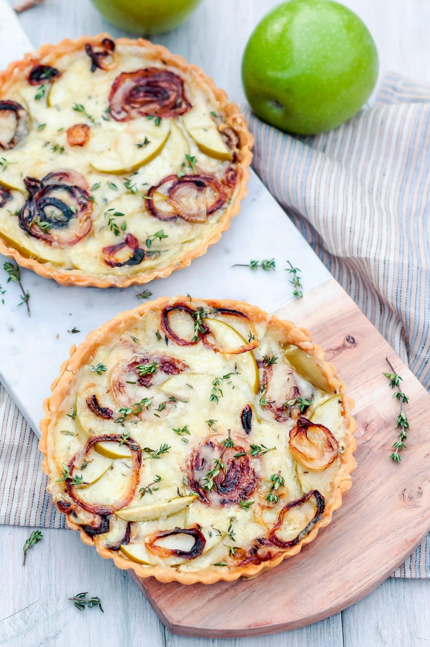 apple thyme tart