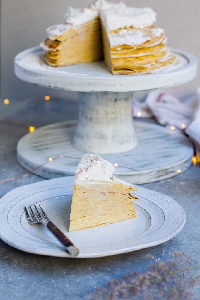 Eggnog Crepe Cake