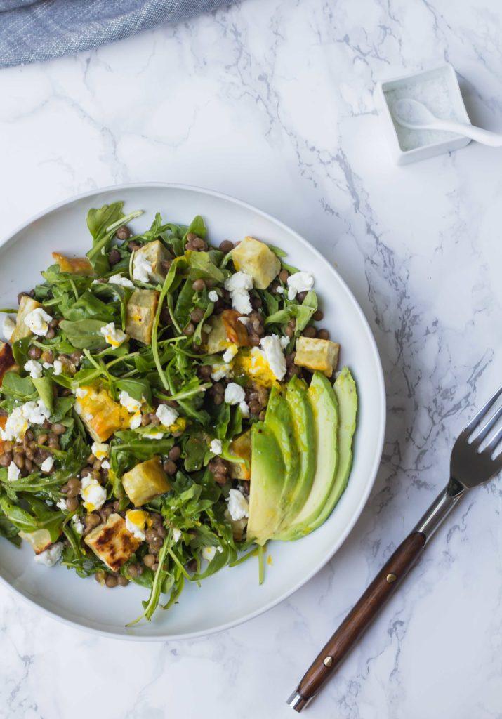 Lentil Arugula Salad