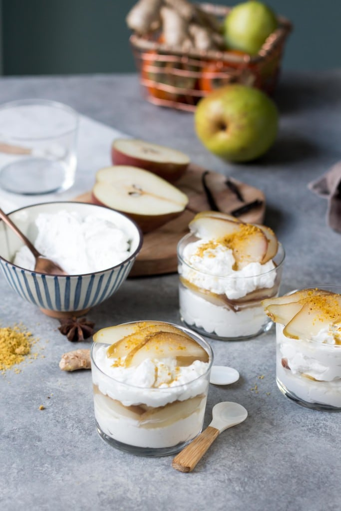 poached pear parfaits