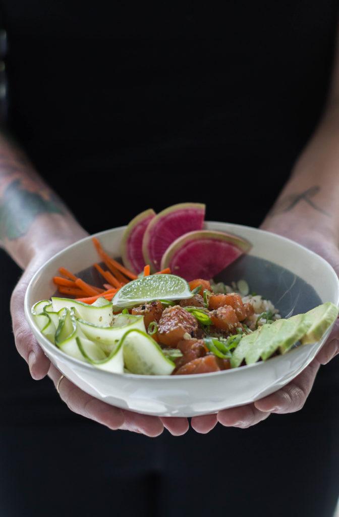 Salmon Poke Bowls