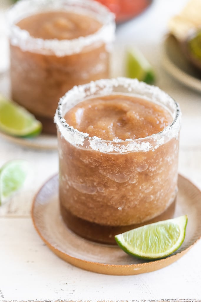 Tamarind Ginger Margarita with a salted ginger sugar rim