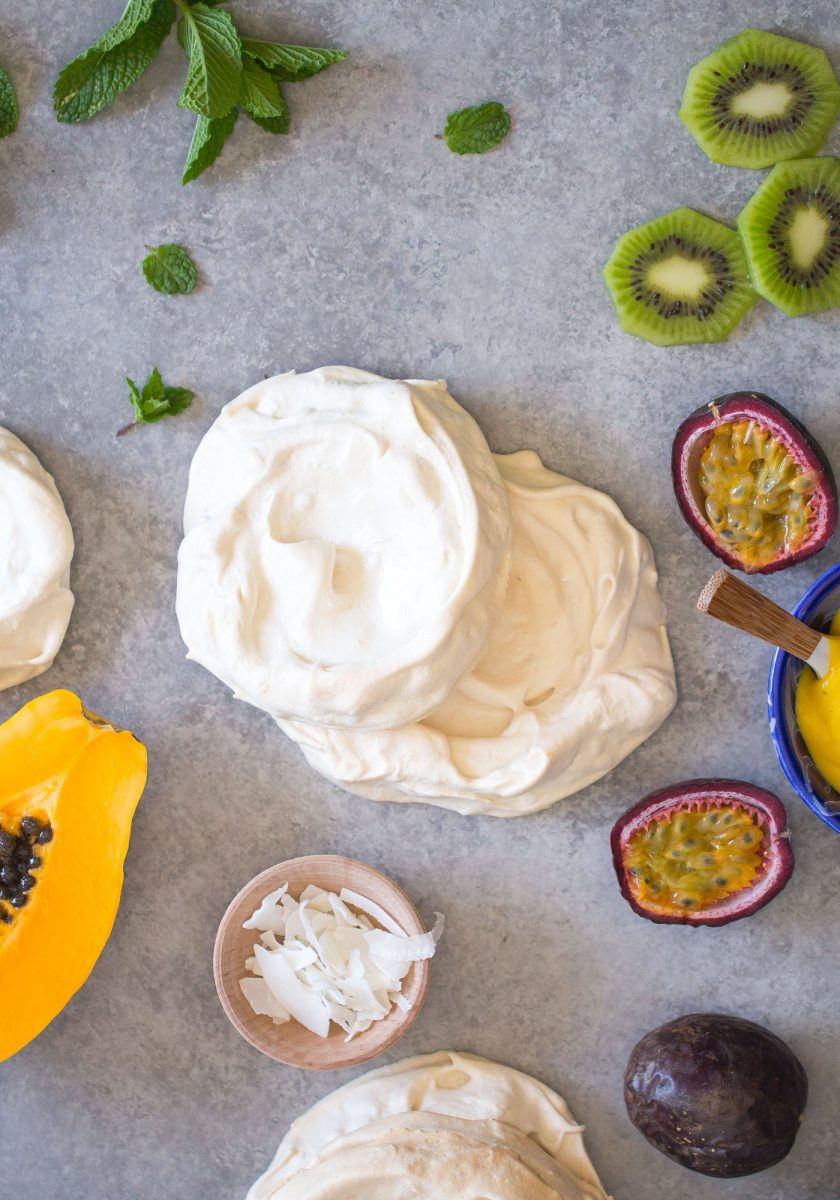 Toasted Coconut Pavlova