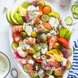 Heirloom Tomato Lobster Salad