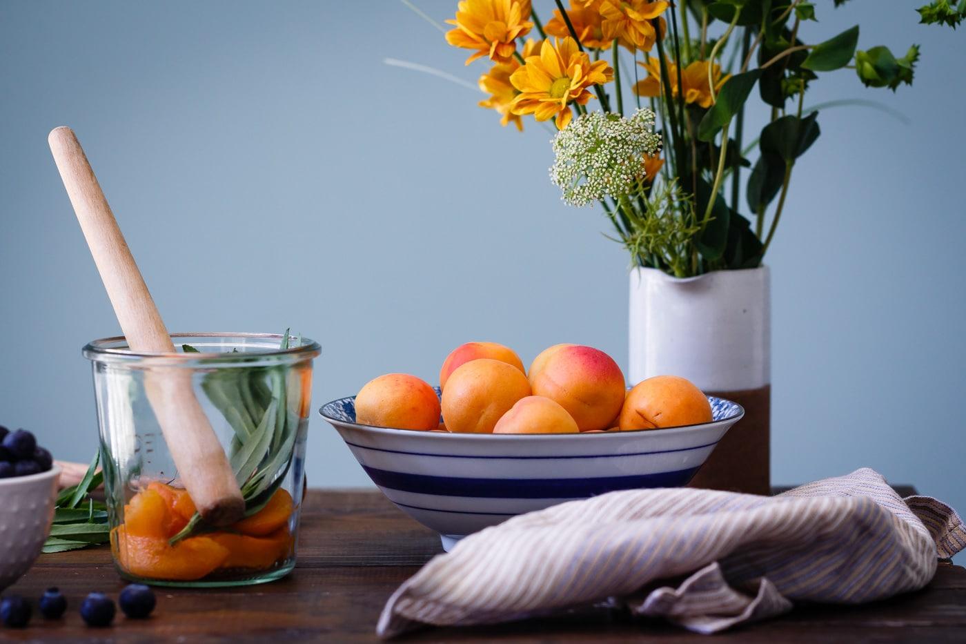 blueberry apricot lemon verbena shrub
