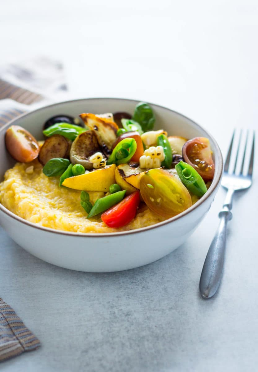 Summer Vegetable Polenta Bowls