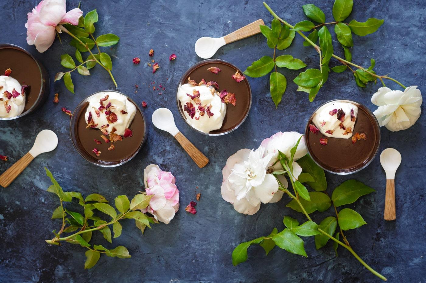Chocolate Bourbon Pots De Creme