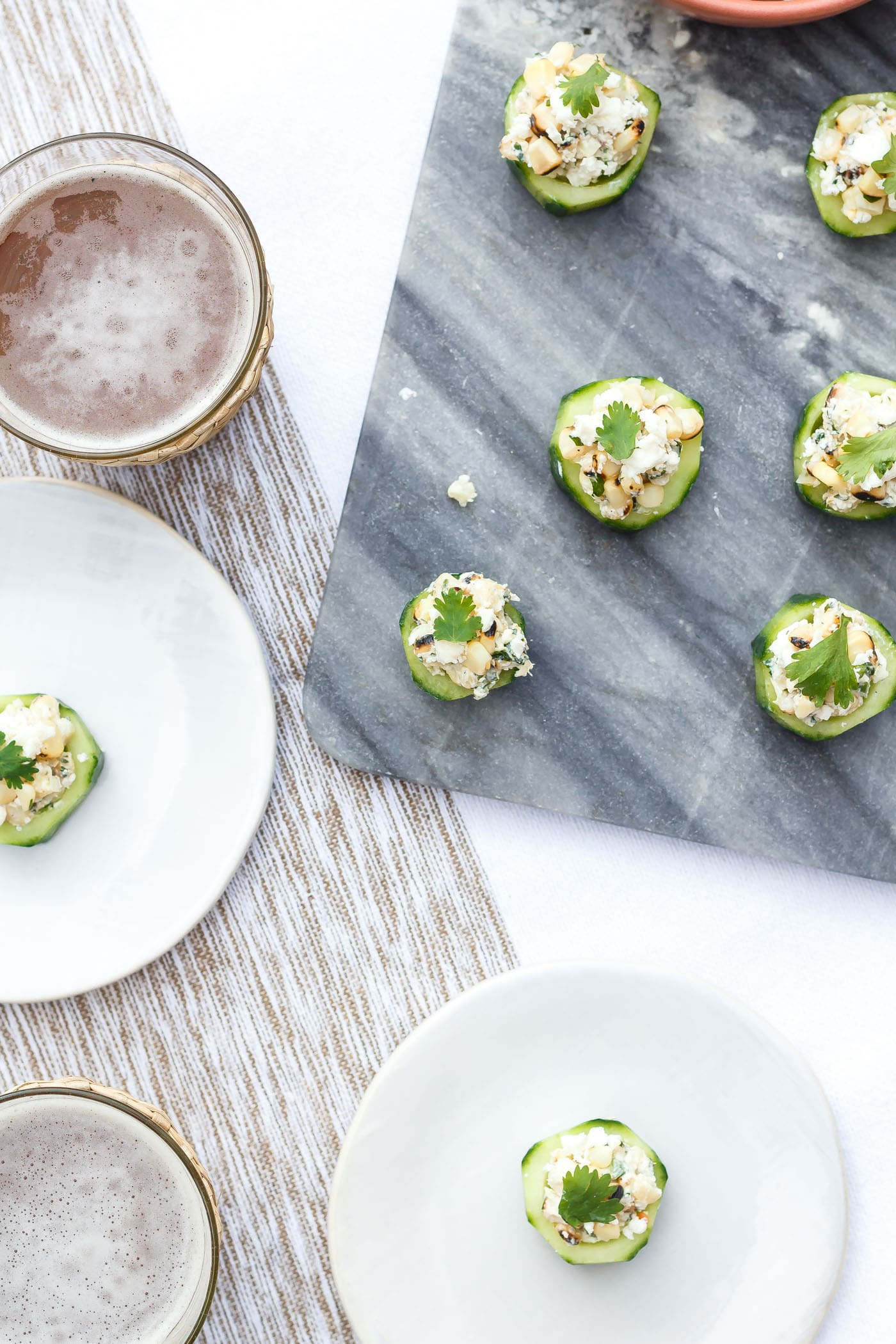 Mexican Street Corn Cucumber Cups