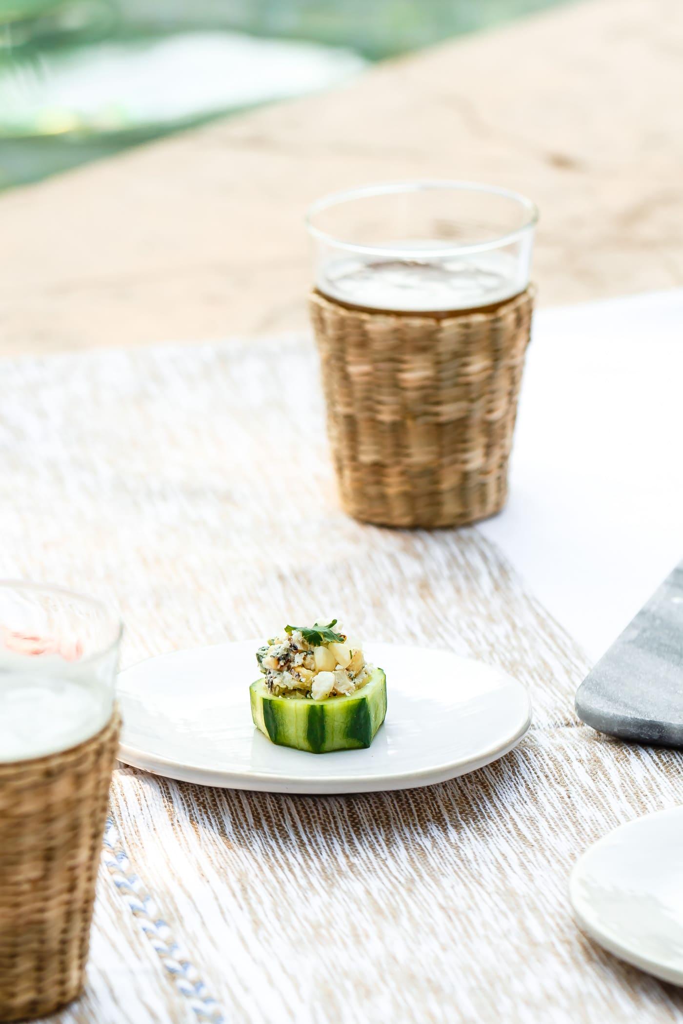 Mexican Street Corn Cucumber Cups