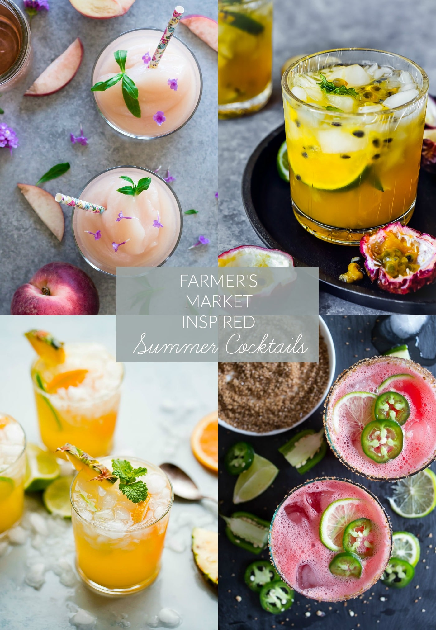 farmer's market inspired summer cocktails