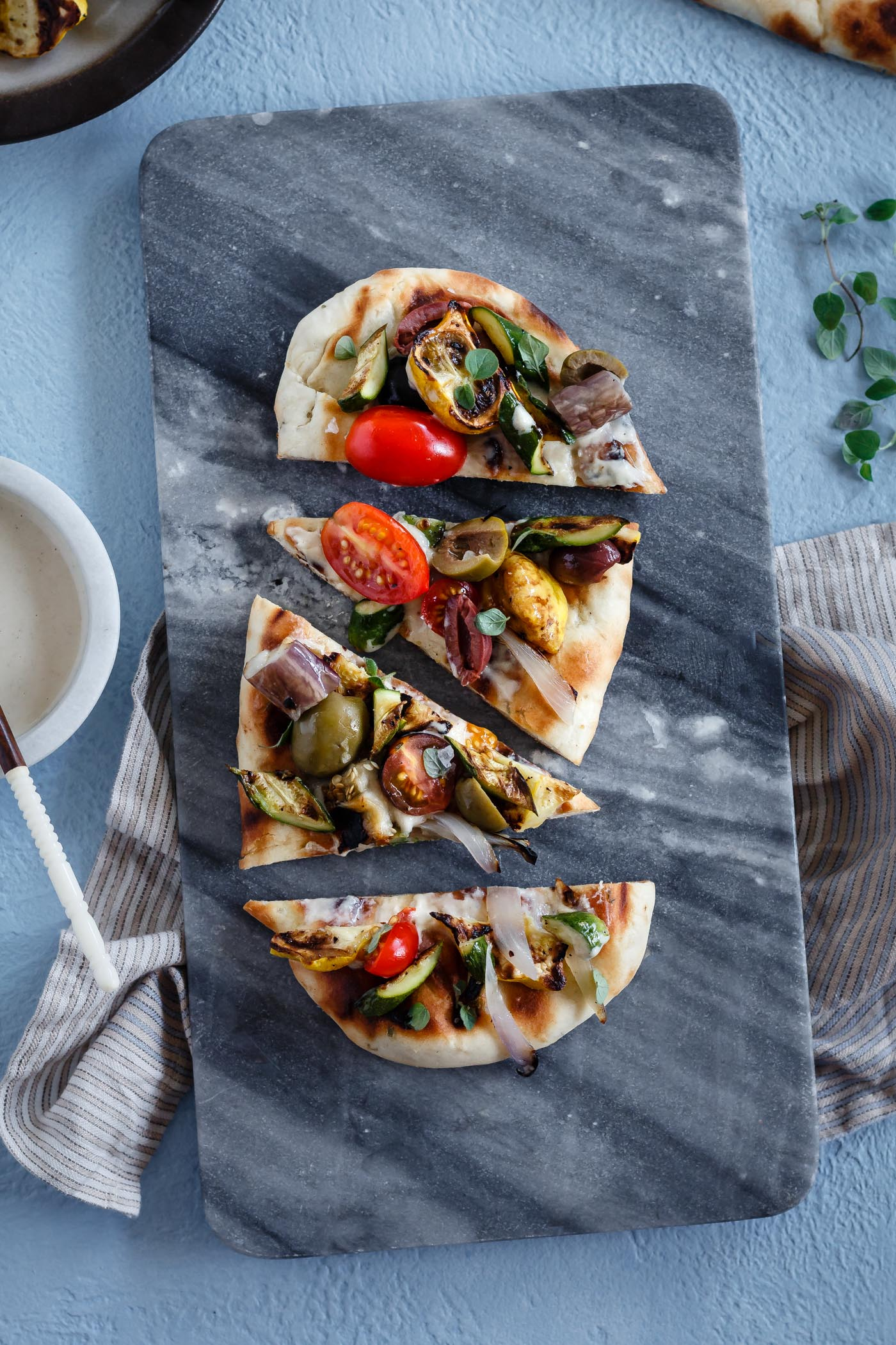 Grilled Mediterranean Vegetable Flatbread