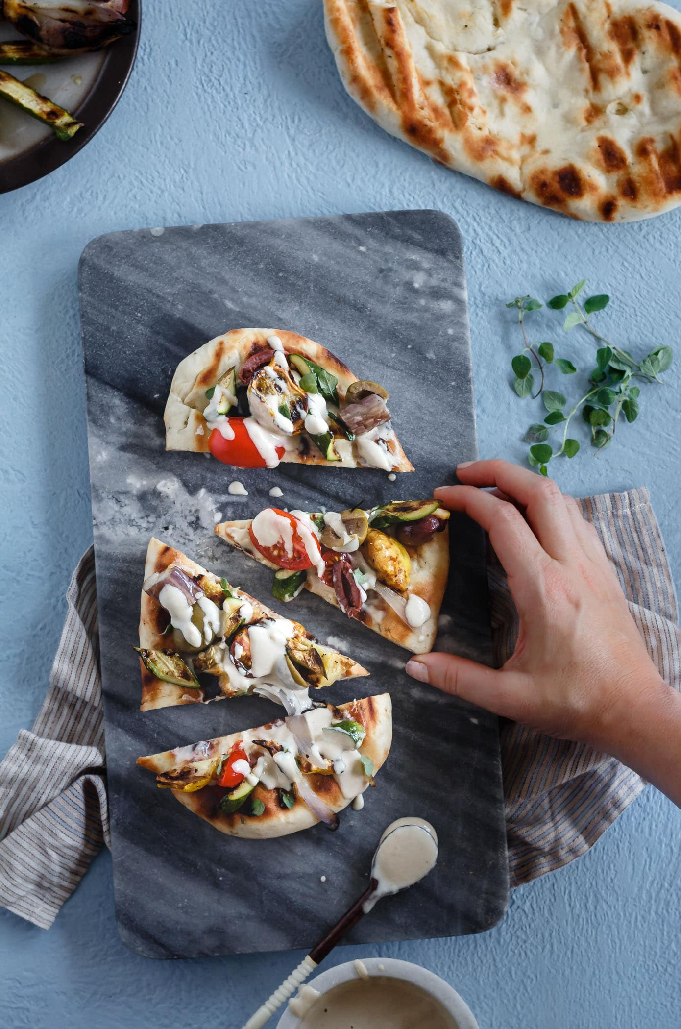 Grilled Mediterranean Vegetable Flatbread