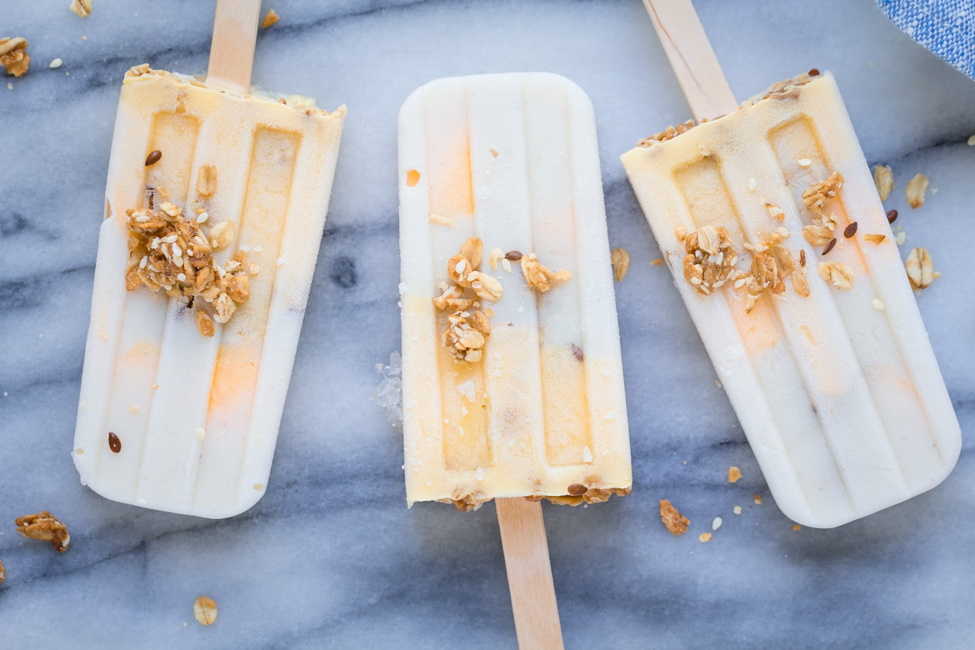Vanilla Mango Breakfast Popsicles