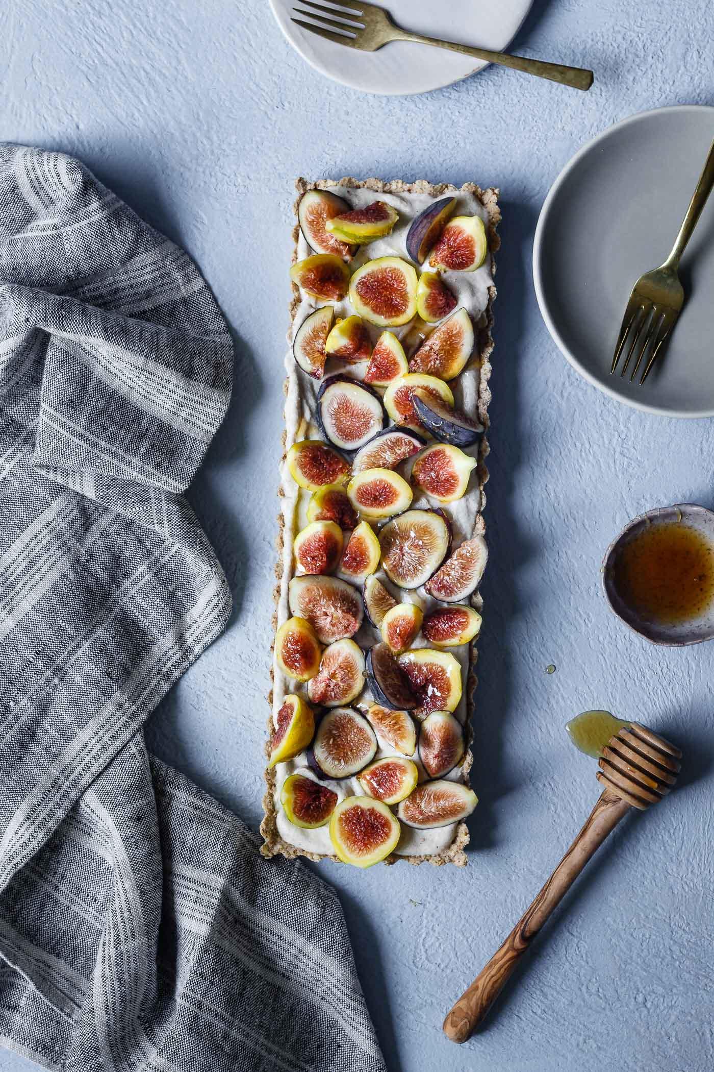 Honey Cardamom Fig Tart