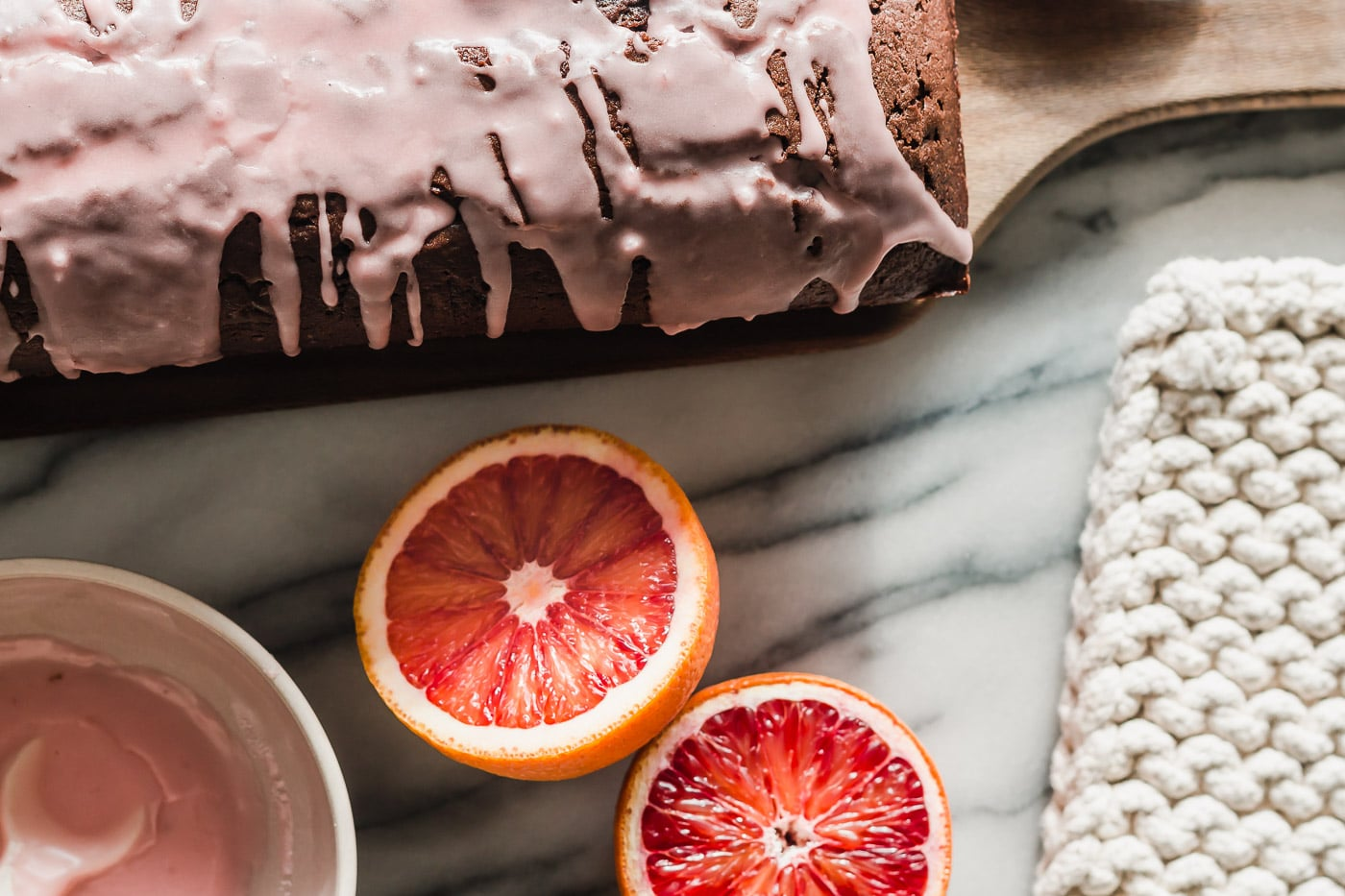 blood oranges and chocolate olive oil cake