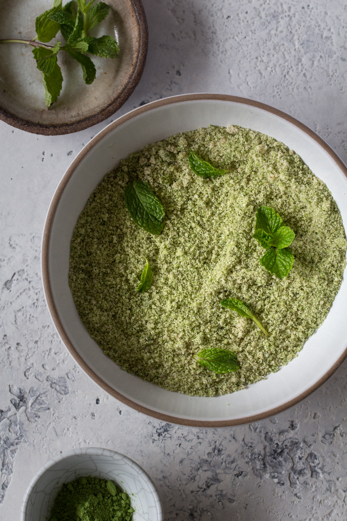 matcha mint sugar