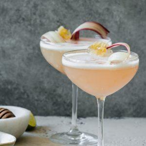 Rhubarb Honey Pisco Sour