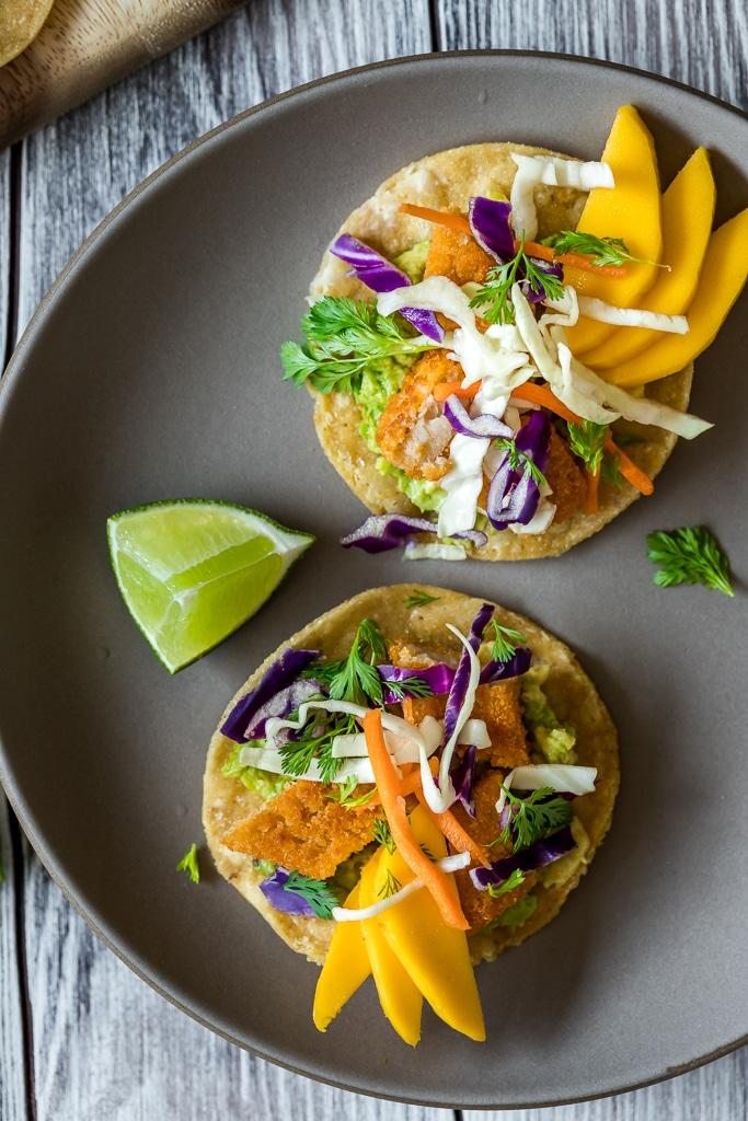 Baja Fish Tostadas Vegan Le Petit Eats