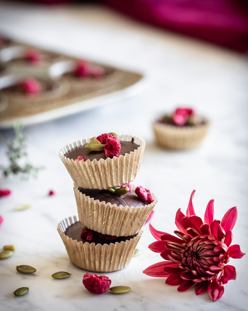 chocolate marcona almond butter cups