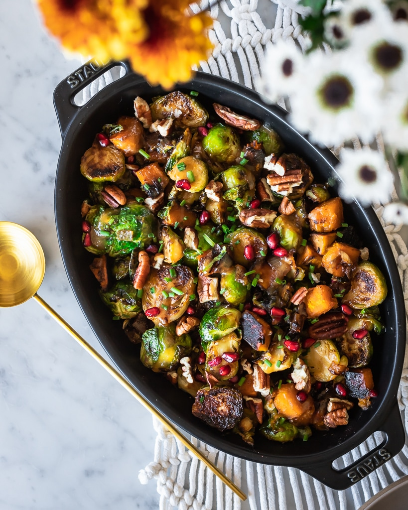 Brussels Sprout Hash with Maple Miso Glaze