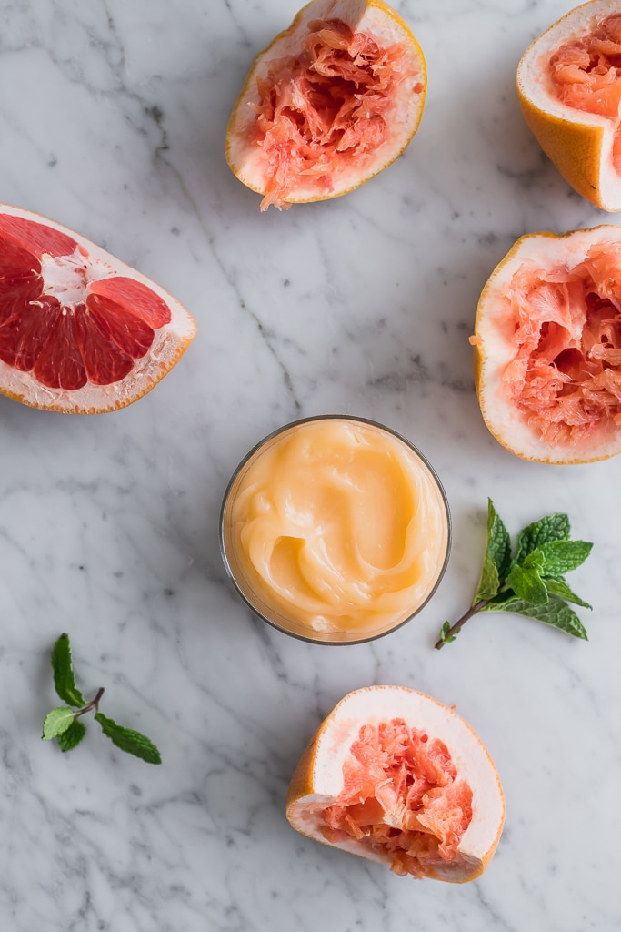 vegan grapefruit curd