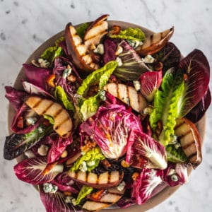 Chicory Salad with Grilled Pear
