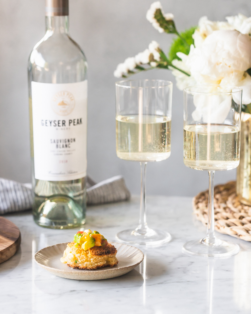 corn fritters with white wine