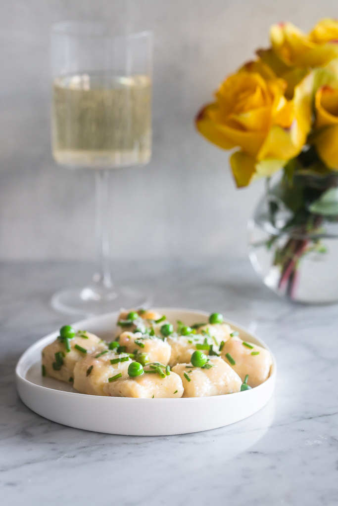 English Pea Gnocchi