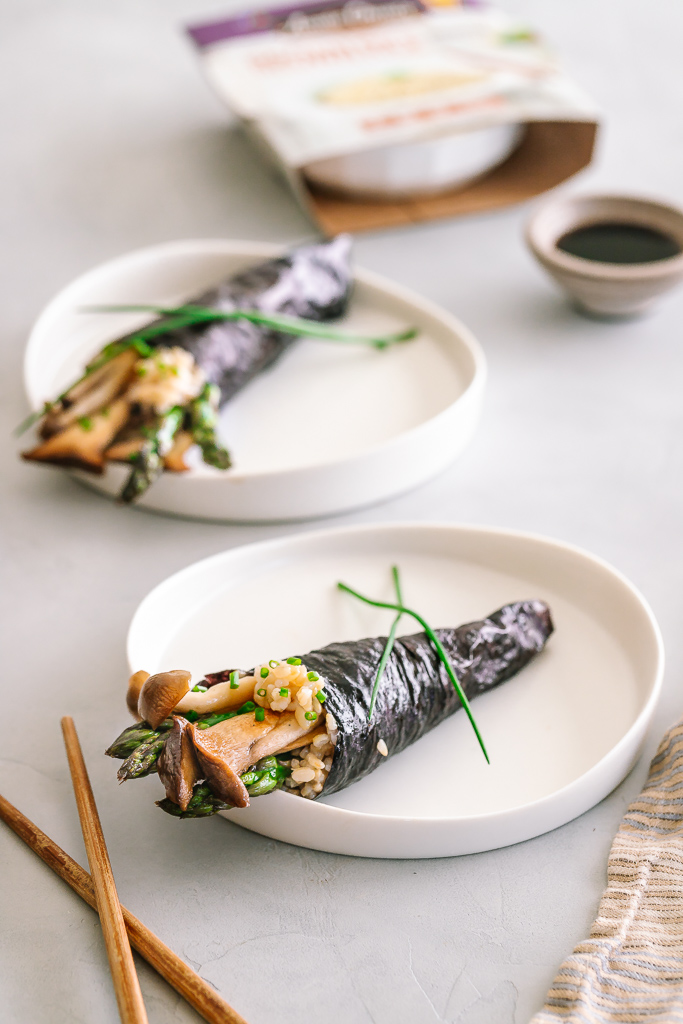 Brown Rice Vegetable Sushi Hand Rolls