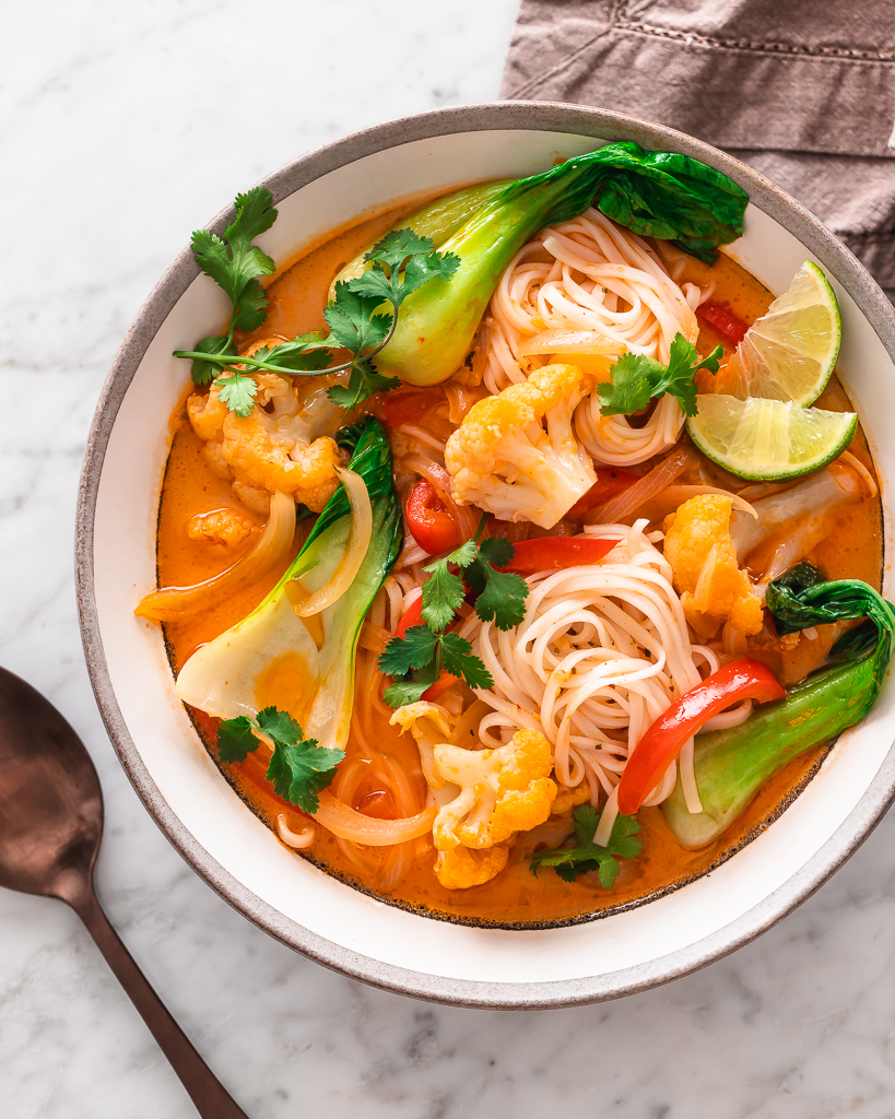 Coconut Red Curry Soup with vegetables