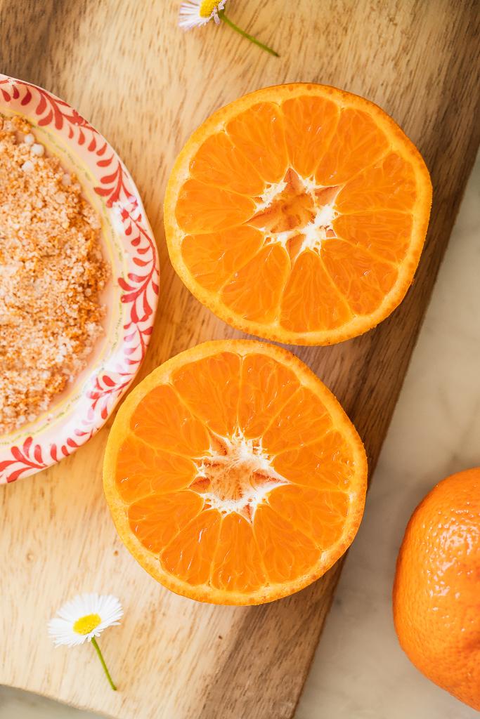 clementine orange halves