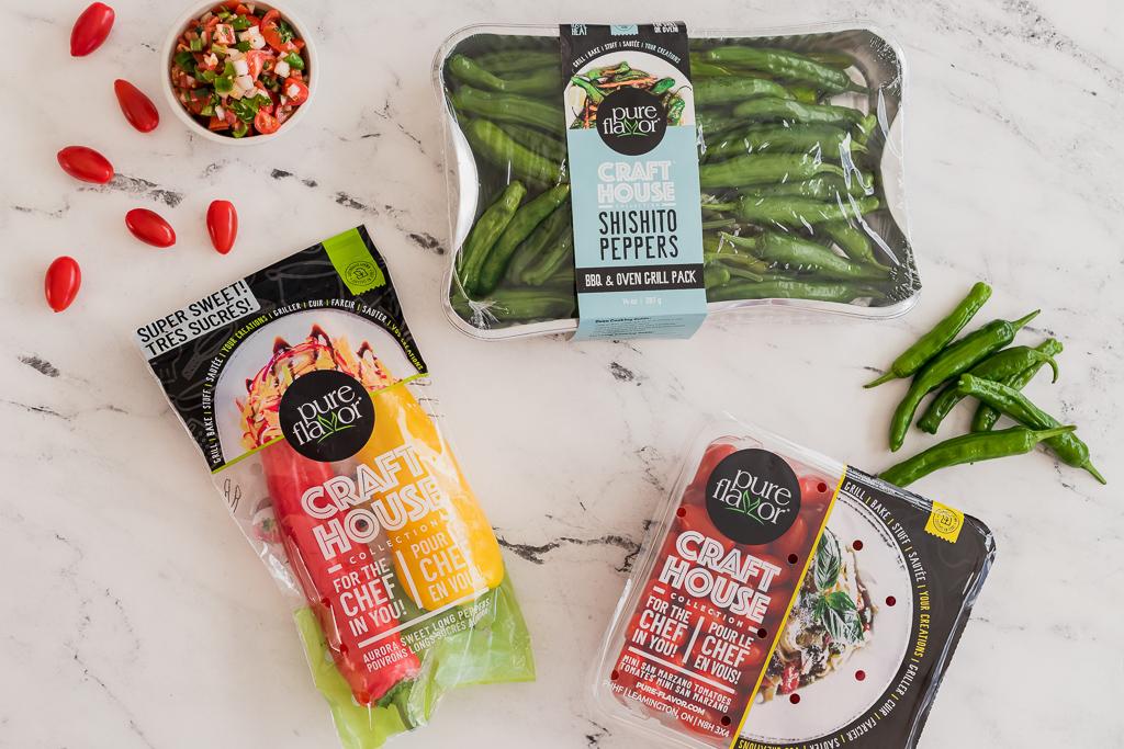 ingredients needed for making vegetarian roasted red bell pepper quesadillas